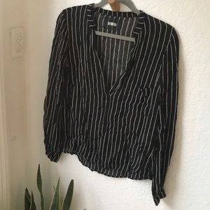 Reformation striped top Sz S
